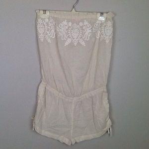 Victoria's Secret cream romper/cover-up in S